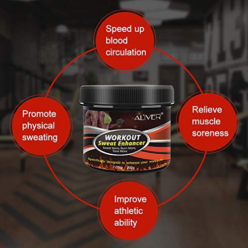 Sweat Cream Weight Loss Fat Burner for Women,Fitness Cream,Sweat Cream for Weight Loss, Fat Loss, Muscle Gain, Etc. 4