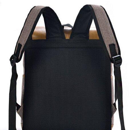 Shoulder Rivet pocket Canvas Hot casual green Handbag Backpack bag Decoration Double Belt Portable SB1 BEIER Fashion sale 8wvvqY