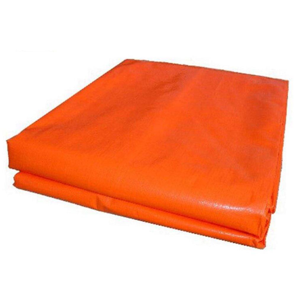 FEI Wasserdichte Plane PET-Blaue Orange Gewebe-Plane-Auto-Plane wasserdichtes Sunscreen 160g   m², Stärke 0.35mm professionelle Deckung   Plane (größe   5  6m)