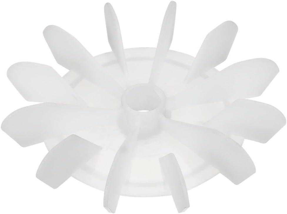 sourcing map 1Pcs Ventilador De Motor Impulsor 120 * 15mm D Eje De Plástico Blanco De Repuesto 12 Paletas