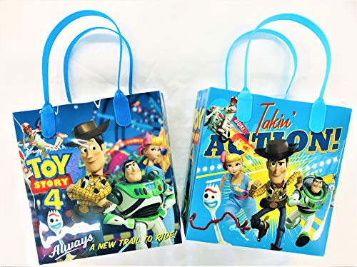 12 pcs Toy Story 4 Disney Pixar Birthday Goody Gift Loot Favor Bags Party Supplies (Toy Story 4)