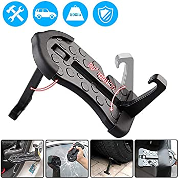 Car Doorstep- 5 in 1 Rooftop Doorstep for Car SUV Truck Vehicle Hooked on U Shaped Slam Latch Doorstep Easy Access to Rooftop (2019 Update)