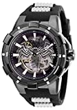 Invicta Men's Marvel Stainless Steel Automatic-self-Wind Watch with Silicone Strap, Black, 30 (Model: 28978)