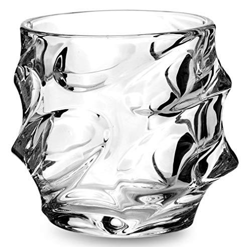 KANARS Emperor Whiskey Glasses set of 4 - Cool Rocks Glasses - Heavy 11 oz Tasting Tumblers for Drinking Scotch, Bourbon, Irish Whisky, Brandy ()