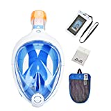 Tribord/Subea Easybreath (Latest Version) Full Face Snorkel Mask with Bonus Waterproof Phone Case and More