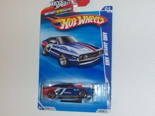Amx Javelin (2010 Hot Wheels Muscle Mania Blue AMC Javelin AMX #01/10 (079/240) on Keys to Speed Card w/ Instant Win Game Piece)