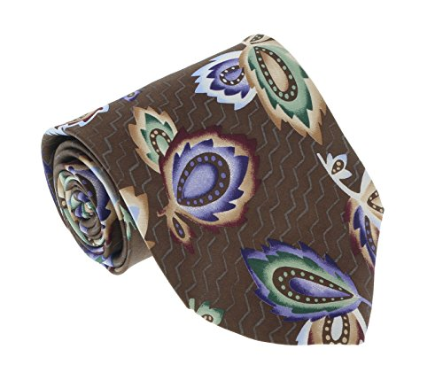 - Missoni U1452 Brown/Blue Chinoiserie 100% Silk Tie for mens