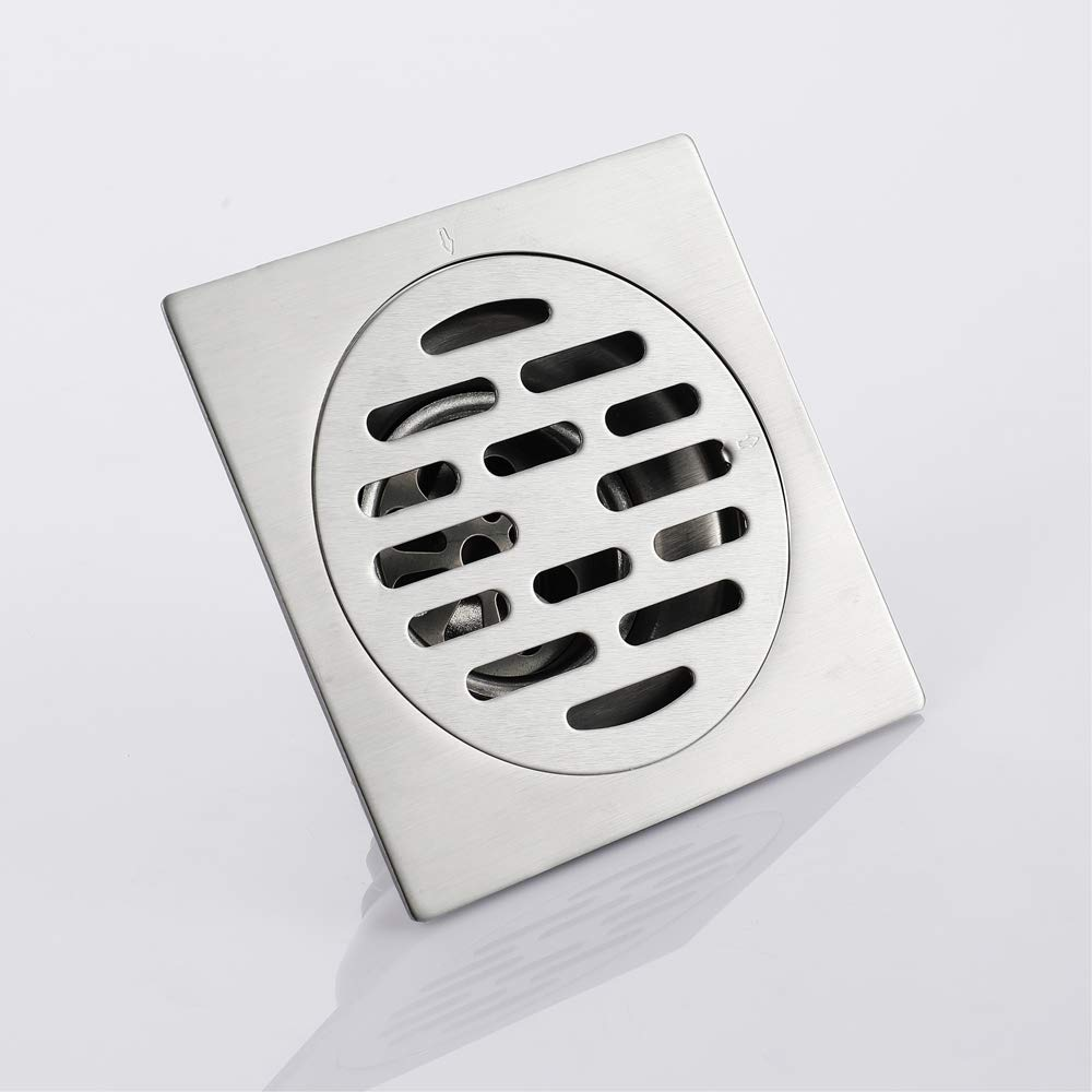 Shower Floor Drain Square Strainer Stainless Steel Modern 4-Inch Floor Drain Insect Proof, Anti-Backwater And Deodorant Floor Drain Anti-Clogging by YJZ (Image #4)