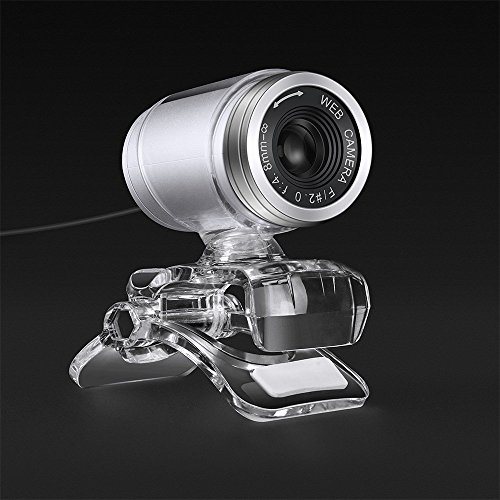 Cimkiz USB Webcam, HD with Built-in MIC PC Web Cam for Facebook YouTube Instagram Video Live Clip-on Plug and Play Skype Camera for Computer Laptop MAC