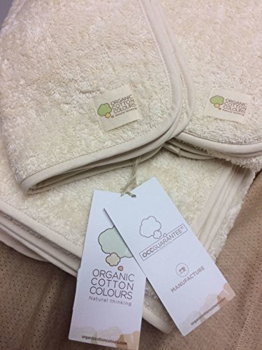 Organic Cotton Colours Pure Vegan 100% Natural Undyed Hypoallergenic Face Towel by Organic Cotton Colours