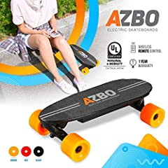 AZBO Electric Skateboard has this lovely radial concave shape that provides a comfortable yet responsive platform for you to stand on. This makes it much easier to whip the board around and perform tight turns when necessary. Mini Portable El...