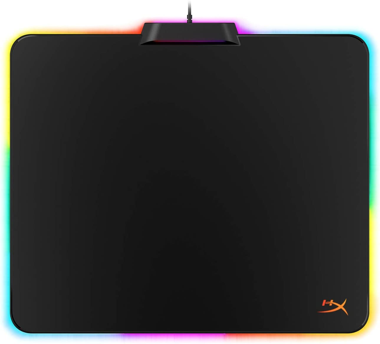 Mouse Pad HyperX  Fury S, talle L,  LED RGB, color Negro