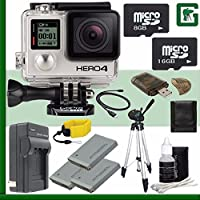 GoPro HERO4 BLACK 4K Action Camera + 8GB + 16GB Greens Camera Bundle 6
