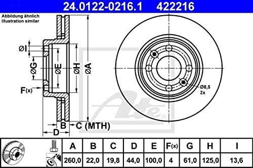 ATE Bremsbel/äge Bremskl/ötze Bremsenset Bremsenkit Komplettset Vorderachse Original ATE Bremsscheiben vorne