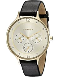 Skagen Women's Anita SKW2393 Black Leather Quartz Watch
