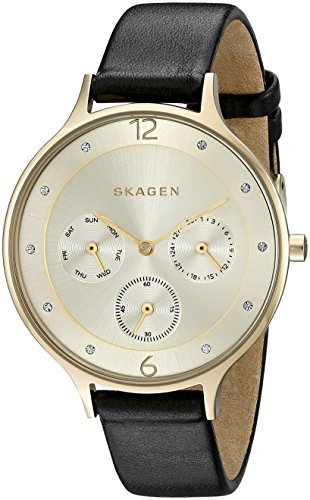 Skagen Women's SKW2393 Anita Black Leather Watch