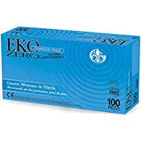 EKO - Zero Nitril Handschoenen, Ultra Licht & Zacht, Maat Klein, Poedervrij, Dispenser Doos van 100 enkele Handschoenen