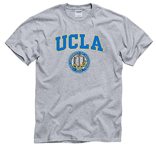 Shop College Wear UCLA Block & seal Men's T-Shirt-Gray