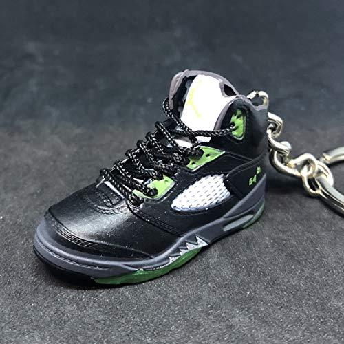 Air Jordan V 5 Retro Black Green Quai Q54 OG Sneakers Shoes 3D Keychain Figure