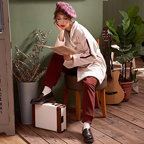 Largos Dukunkun Cálido De Larga Pareja Conjunto Grueso Vestidos Pijamas Mujer Servicio Otoño Noche Manga rBnwrZSg