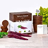 Natures's Blossom Sow and Grow Crazy Garden Seed Kit - 5 Rare Vegetables To Grow