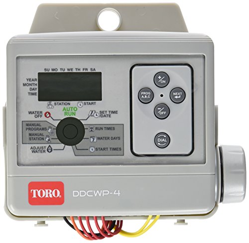 Toro DDCWP-4-9V Waterproof 4 Station Battery Controlled Controller (Battery Irrigation Controller)
