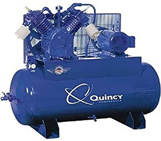 product image for Quincy QT-15 Splash Lubricated Reciprocating Air Compressor - 15 HP, 230 Volt, 3 Phase, 120 Gallon Horizontal, Model Number 2153DS12HCA23