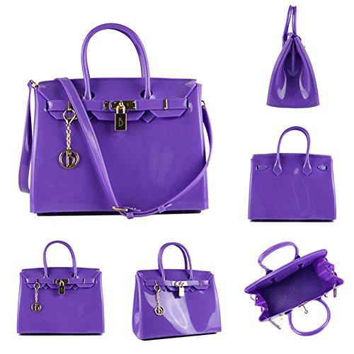 En PVC De Matérielle De Sac Nouveau Plage Gelée De à Purple Main Capacité Grande Sac tBPwqCPO1