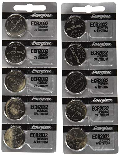 1 Cp Battery - Energizer CR2032 3 Volt Lithium Coin Battery 10 Pack (2x5 Pack) In Original Packaging