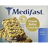 Medifast Peanut Butter Crunch Bars 1 Box (7 Bars each)