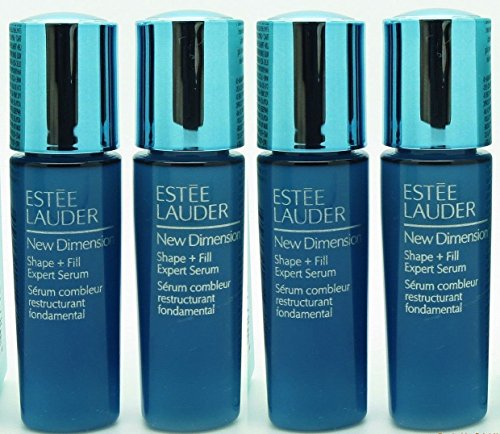 Estee Lauder New Dimension Shape + Fill Expert Serum - 4 in 1 Pack (0.24 oz X 4 = 1 oz Full - Shape Face Pear