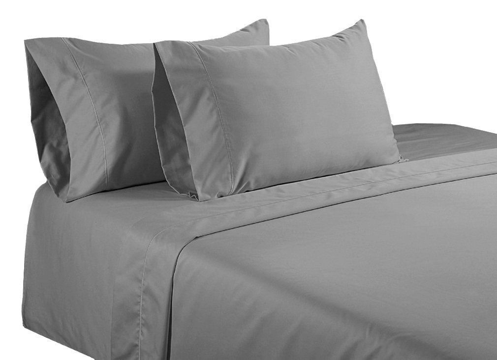 650TC Egyptian Cotton QUEEN GREY SOLID SHEET SET BY MARRIKAS