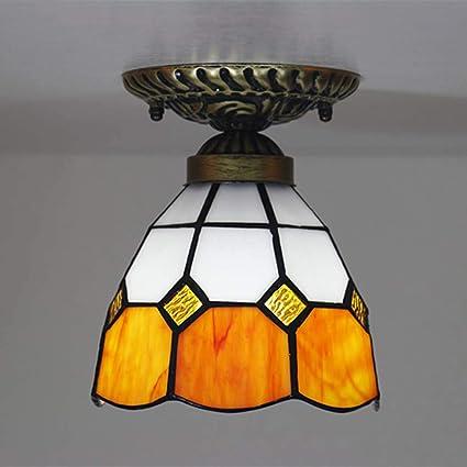 JUNJUNA Luces de Techo, lámpara de Techo Tiffany de 6 ...