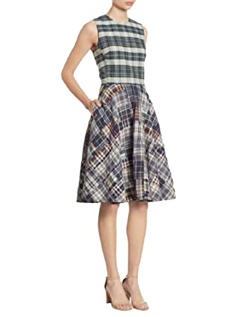 b6eb2b63cd Polo Ralph Lauren Madras Cotton Fit & Flare Dress (Patchwork, 10) at ...