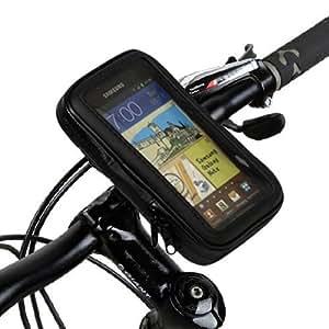 Soporte para Bicicleta con funda impermeable Negra para Samsung Galaxy Note II / Note 2 N7100 Negro