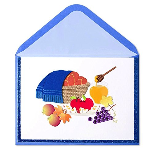Jewish New Years Card with Challah Basket