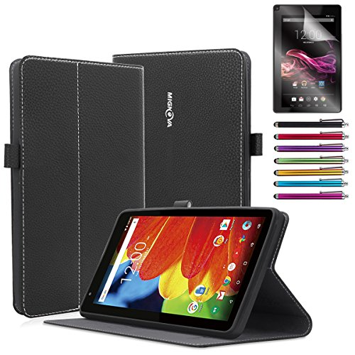 RCA 7 Voyager Case, Mignova Ultra Slim Lightweight case cover for RCA Voyager II 7 / RCA Voyager 7 (2017 Newest) / RCA 7 Voyager Pro Tablet +Screen Protector Film and Stylus Pen (Black) (Screen Tablet For Protector 7 Rca)