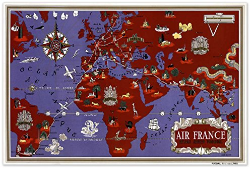 air-france-reseau-aerien-mondial-map-circa-1934-measures-36-wide-x-24-high-915mm-wide-x-610mm-high