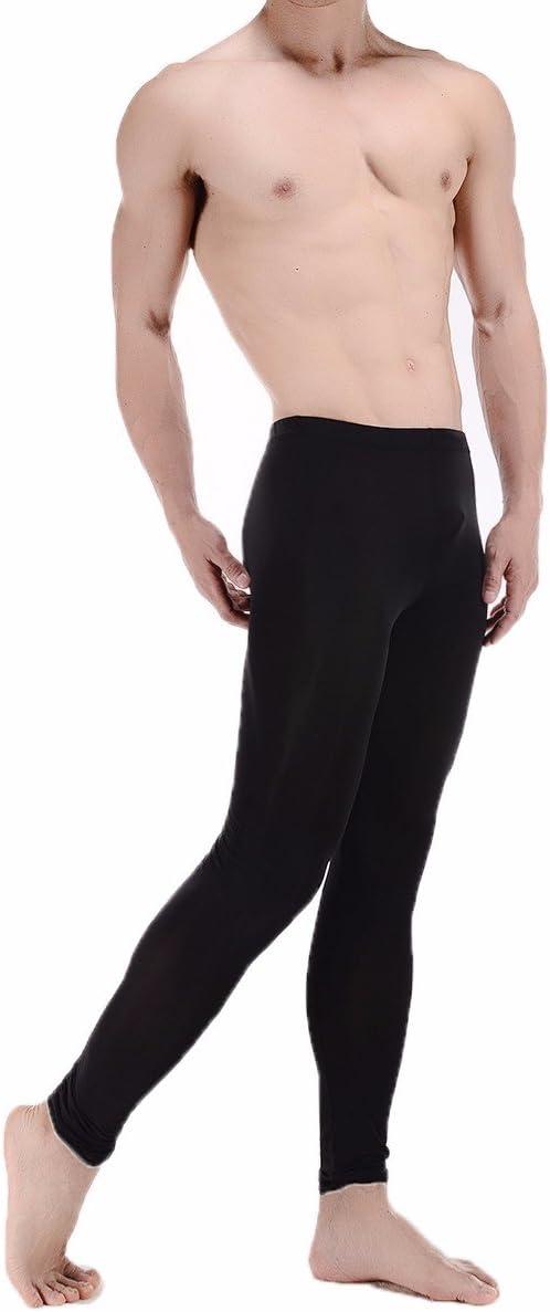 PinWei/_ Leggings di Tasca Nove Punti Maschile Pantaloni Tuta Trasparente Senza Ultra Sottili Fili Pantaloni del Pigiama Stretto