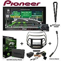 Pioneer AVIC-8201NEX 7 Navigation AV Receiver w/Backup Camera iDatalink KIT-CHK1 Dashkit for Jeep cherokee, BAA23 Antenna Adapter, and ADS-MRR Interface Module and a SOTS Lanyard