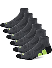 Mens Performance Athletic Ankle Running Socks (6 Pair Pack)