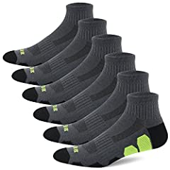 BERING Men's Performance Athletic Running Socks (6 Pack)                       Details              ● Fabric:62% Polyester/14% Spandex/10% Nylon/14% Rubber       ● Hand Wash Warm       ● Water Temperature Should Not Exceed 40C...