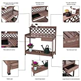 Aivituvin Potting Bench with PVC Layer, Outdoor
