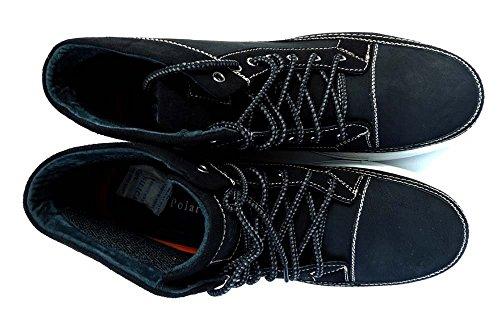 Zapatillas De Moda Newpolar Fox Hombre Hi-top Lace Up Botas Ankle Casual Zapatos Mpx55010 Negro