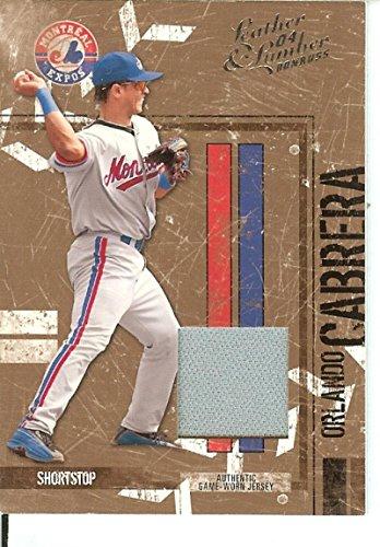 Baseball MLB 2004 Leather and Lumber Signatures Bronze #88 Orlando Cabrera Auto /100 Expos