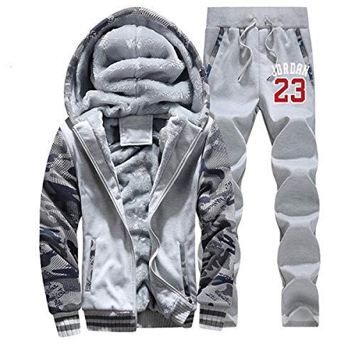 Jordan Hoodie Jordan 23 Hoodies Tracksuit Men Jacket+Pant Warm Fur Inside Hoody