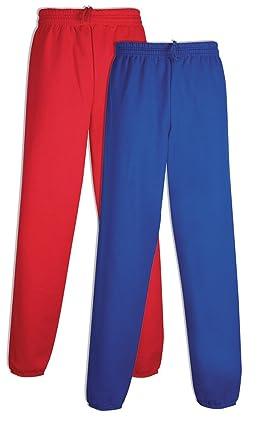 1f954c83f Hanes P650 Men's EcoSmart Fleece Sweatpant Small 1 Deep Red + 1 Deep Royal