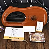 Donner DLH-001 Lyre Harp Mahogany, 7 Metal String
