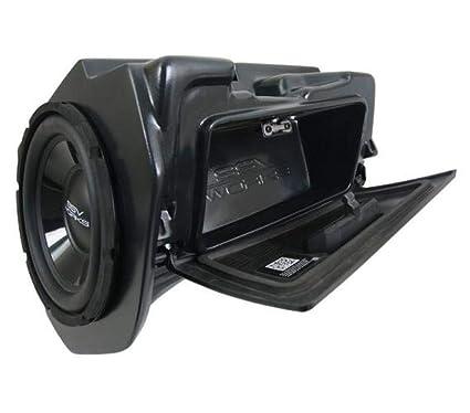 amazon com: ssv works 14-19 polaris ranrzr1000xe glove box weatherproof  amplified subwoofer (10