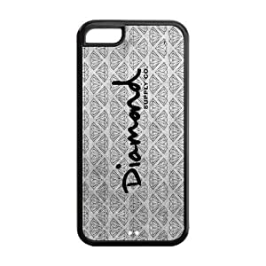 Happinessexplorer Diamond Supply Co DMND Logo Best Durable Silicone iPhone 5C Case hjbrhga1544